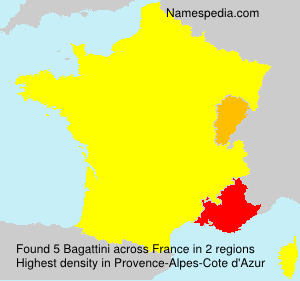 Familiennamen Bagattini - France