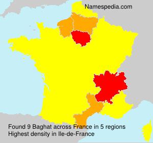 Familiennamen Baghat - France