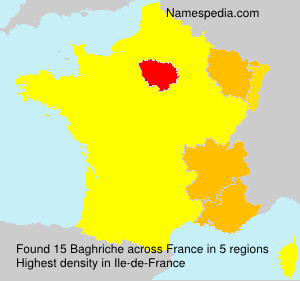 Surname Baghriche in France