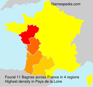Surname Bagnas in France