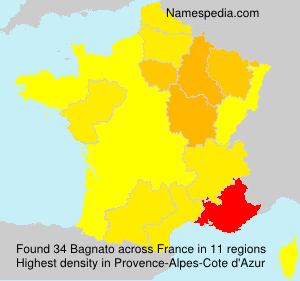 Surname Bagnato in France