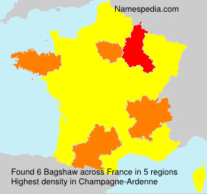 Surname Bagshaw in France