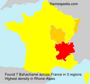 Surname Bahachame in France