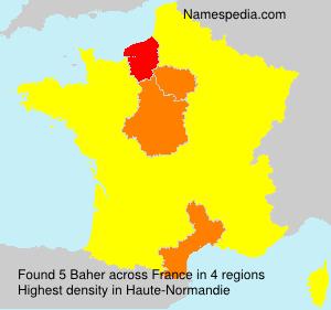 Surname Baher in France