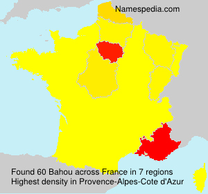Surname Bahou in France