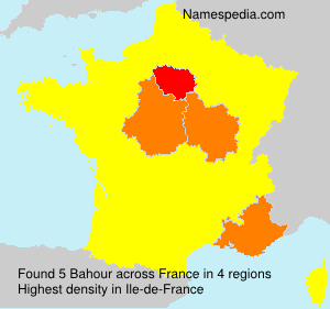 Surname Bahour in France