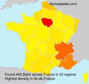 Surname Bahri in France