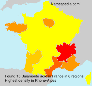 Surname Baiamonte in France