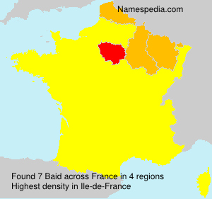 Surname Baid in France