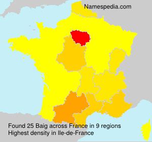 Familiennamen Baig - France