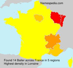 Surname Bailer in France