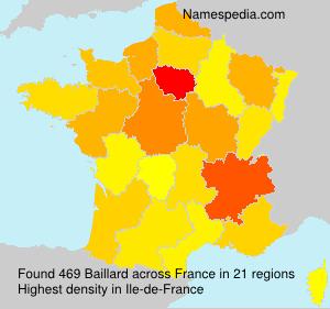 Surname Baillard in France