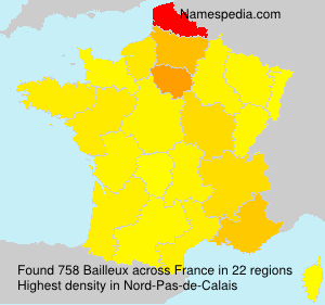 Surname Bailleux in France