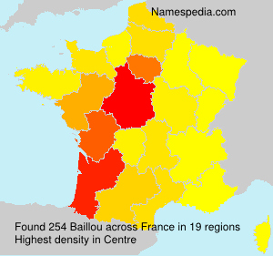 Surname Baillou in France