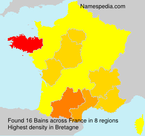 Surname Bains in France