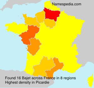 Surname Bajet in France