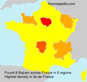 Surname Bajram in France