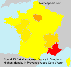 Surname Bakalian in France