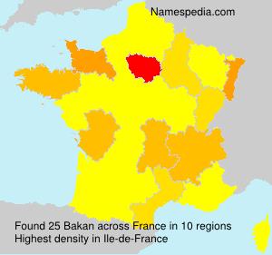 Surname Bakan in France