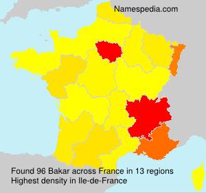 Surname Bakar in France