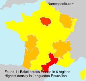 Surname Bakel in France