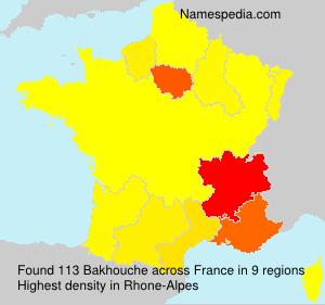 Familiennamen Bakhouche - France