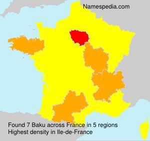Surname Baku in France