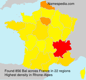Surname Bal in France