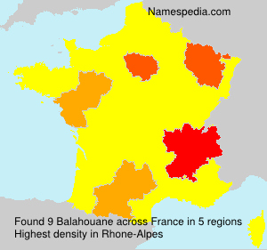 Surname Balahouane in France