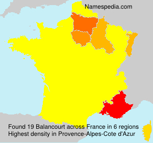 Surname Balancourt in France