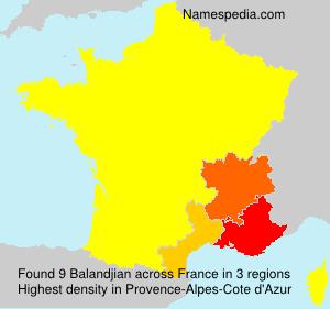 Surname Balandjian in France