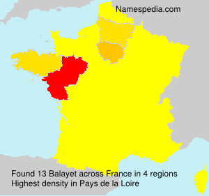Surname Balayet in France