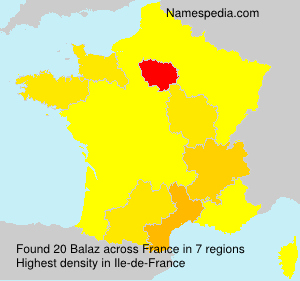 Surname Balaz in France