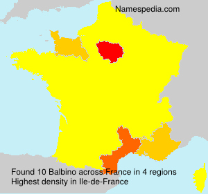 Surname Balbino in France