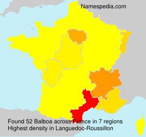 Familiennamen Balboa - France