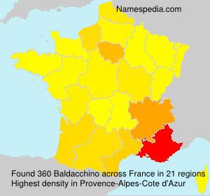 Familiennamen Baldacchino - France