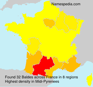 Surname Baldes in France
