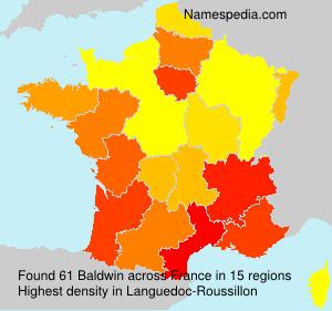 Surname Baldwin in France