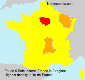 Surname Balej in France