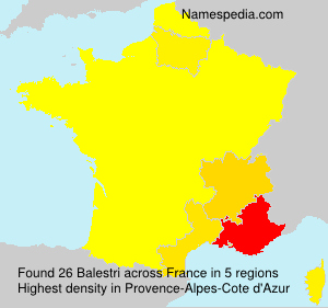 Surname Balestri in France