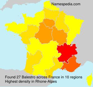Familiennamen Balestro - France
