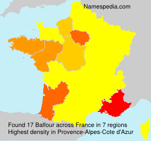 Surname Balfour in France