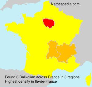 Surname Balikdjian in France