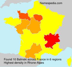 Familiennamen Balinski - France