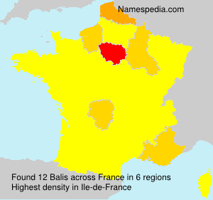 Surname Balis in France