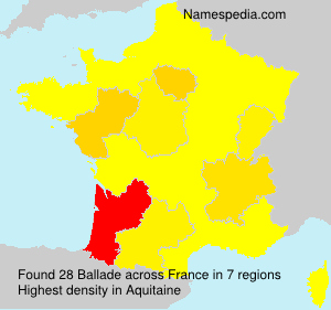Surname Ballade in France