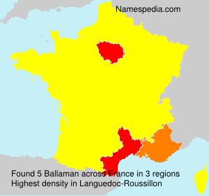 Surname Ballaman in France