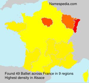 Surname Balliet in France