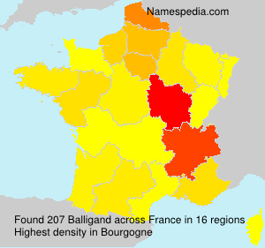 Surname Balligand in France