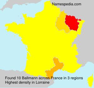 Surname Ballmann in France